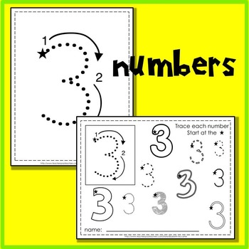Tracing Letters and Number Handwriting Practice