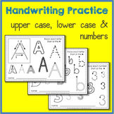 Tracing Letters and Numbers Handwriting Practice Bundle