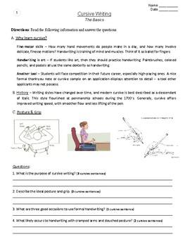 Handwriting Bundle | 154 Cursive & Printing Prompts (Grades 3-7)