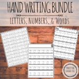 Handwriting Bundle! Letters, Numbers and Sentences