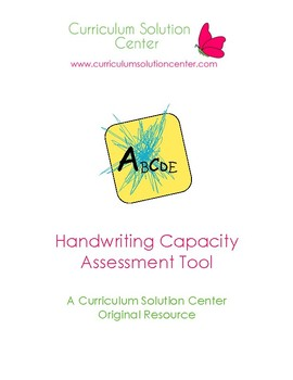 Handwriting Capacity Assessment {Screening, PreK, Preschool, Grasp}