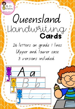 Handwriting Cards - Queensland Font