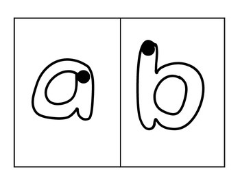 Handwriting Cards: Uppercase, lowercase, and numbers 0-20