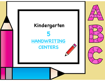 Handwriting Centers Kindergarten