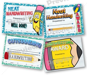 Handwriting Certificates and Notes Pack - Editable