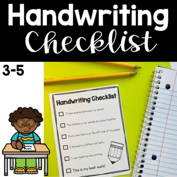 Handwriting Checklist