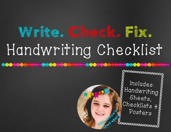 Handwriting Checklist: Write, Check, Fix.