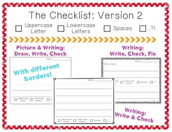 Handwriting Checklist: Write, Check, Fix.