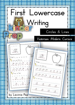 Handwriting - Circles & Lines {Lowercase Letters} Vic. Modern Cursive font