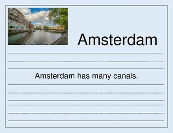 Handwriting Cities A to Z - from Amsterdam to Zurich for Primary Students