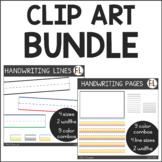 Handwriting Clipart BUNDLE:  Handwriting Lines + Handwriti