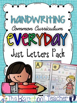 Handwriting - Just Letters Pack