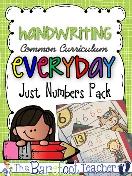 Handwriting Just Numbers Pack