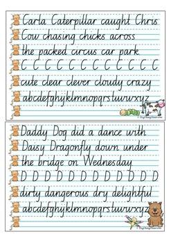 Handwriting Copy Cards - NSW Cursive