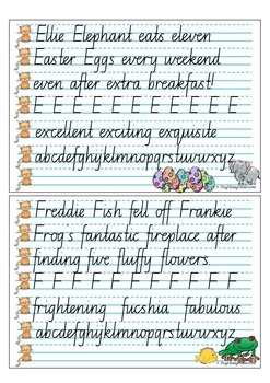 Handwriting Copy Cards - New South Wales Cursive
