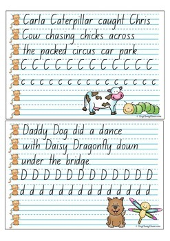 Handwriting Copy Cards - NSW Foundation Print