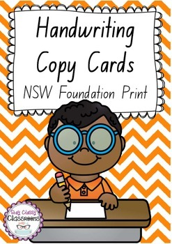 Handwriting Copy Cards - New South Wales Foundation Print