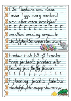 Handwriting Copy Cards - NSW Looped Cursive