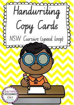 Handwriting Copy Cards - NSW Looped Cursive