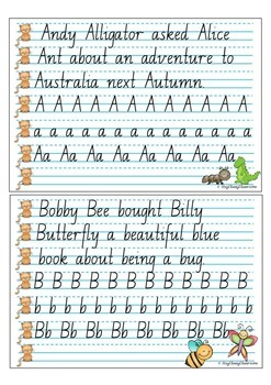 Handwriting Copy Cards - NSW Pre-Cursive