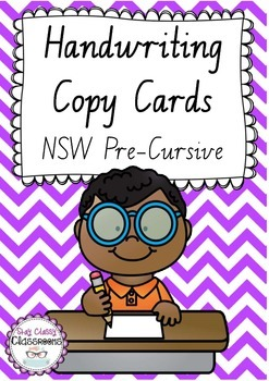 Handwriting Copy Cards - New South Wales Pre-Cursive