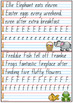 Handwriting Copy Cards - Queensland Beginners Font Year 1