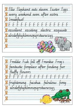 Handwriting Copy Cards - VICTORIAN Cursive