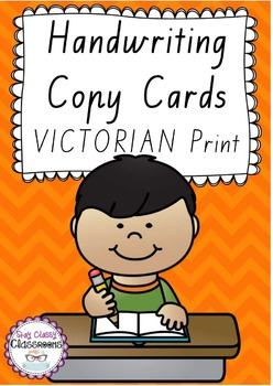 Handwriting Copy Cards - VICTORIAN Print