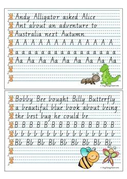 Handwriting Copy Cards - VICTORIAN Regular Script