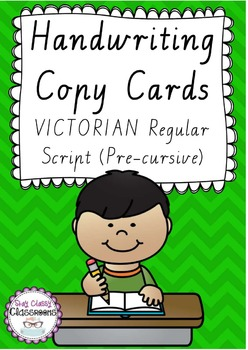 Handwriting Copy Cards - VICTORIAN Regular Script