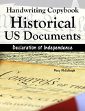 Cursive Handwriting Copybook: Historical US Documents