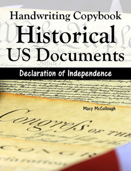 Cursive Handwriting Copybook: Historical US Documents