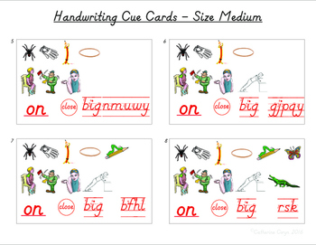 Handwriting Helper Cards
