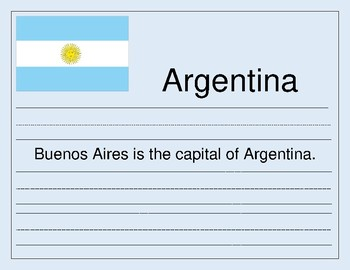 Handwriting Countries A to Z - from Argentina to Zambia for Primary Students