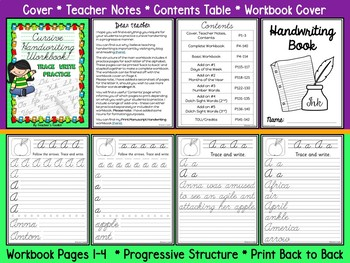 Handwriting Cursive Practice Workbook