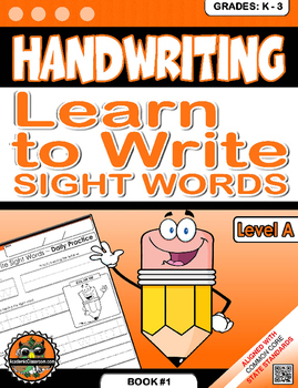 Handwriting Daily Practice: Learn To Write Sight Words. Level A