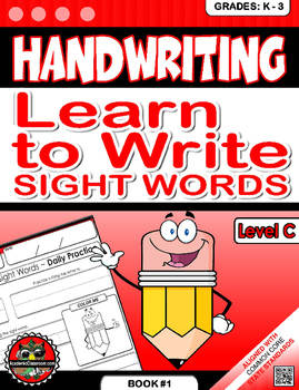 Handwriting Daily Practice: Learn To Write Sight Words. Level C
