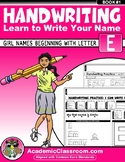 Handwriting Daily Practice Learn To Write Your Name. Girl Names Beginning With E