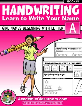 Handwriting Daily Practice Learn To Write Your Name. Girl Names Beginning With A