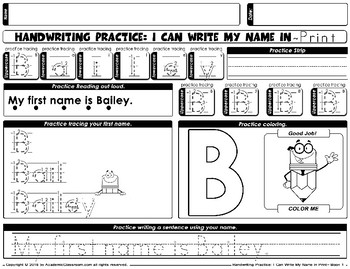 Handwriting Daily Practice Learn To Write Your Name. Girl Names Beginning With B