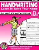 Handwriting Daily Practice Learn To Write Your Name. Girl Names Beginning With D