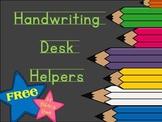 Handwriting Desk Helpers