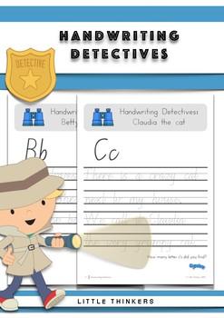 Handwriting Detectives - NSW Linked Cursive Font