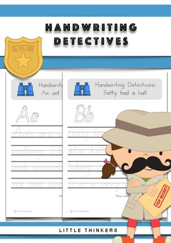 Handwriting Detectives - Queensland Beginners Font