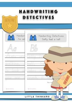 Handwriting Detectives - South Australian Beginners Font