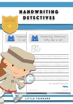 Handwriting Detectives - Vic Modern Cursive Font