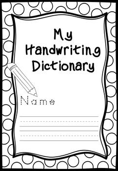 Handwriting Dictionary Booket