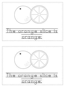 Handwriting Emerging Reader: My Color Orange