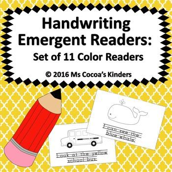 Handwriting Emerging Readers - Color Set