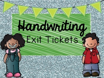 Handwriting Exit Tickets